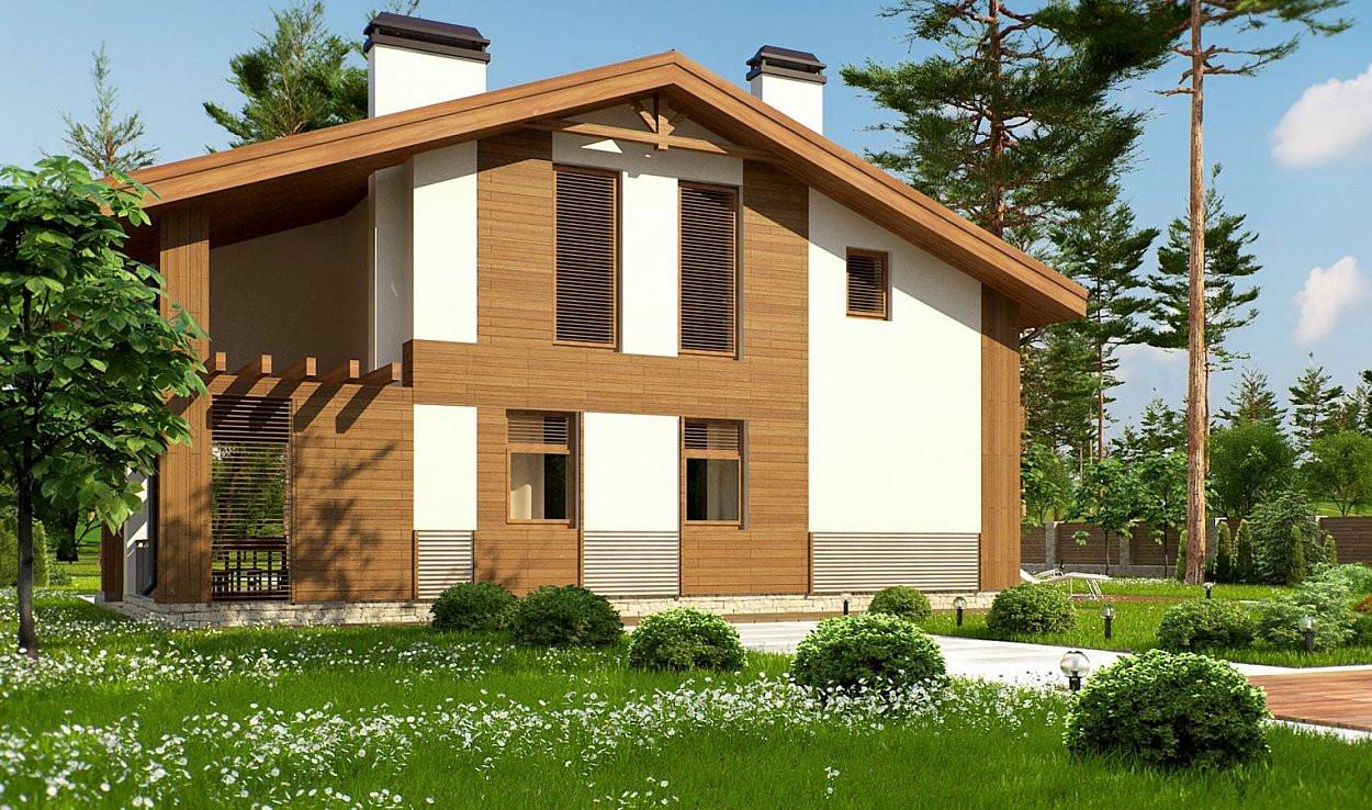 Проект бани 006N (фото фасада 2)