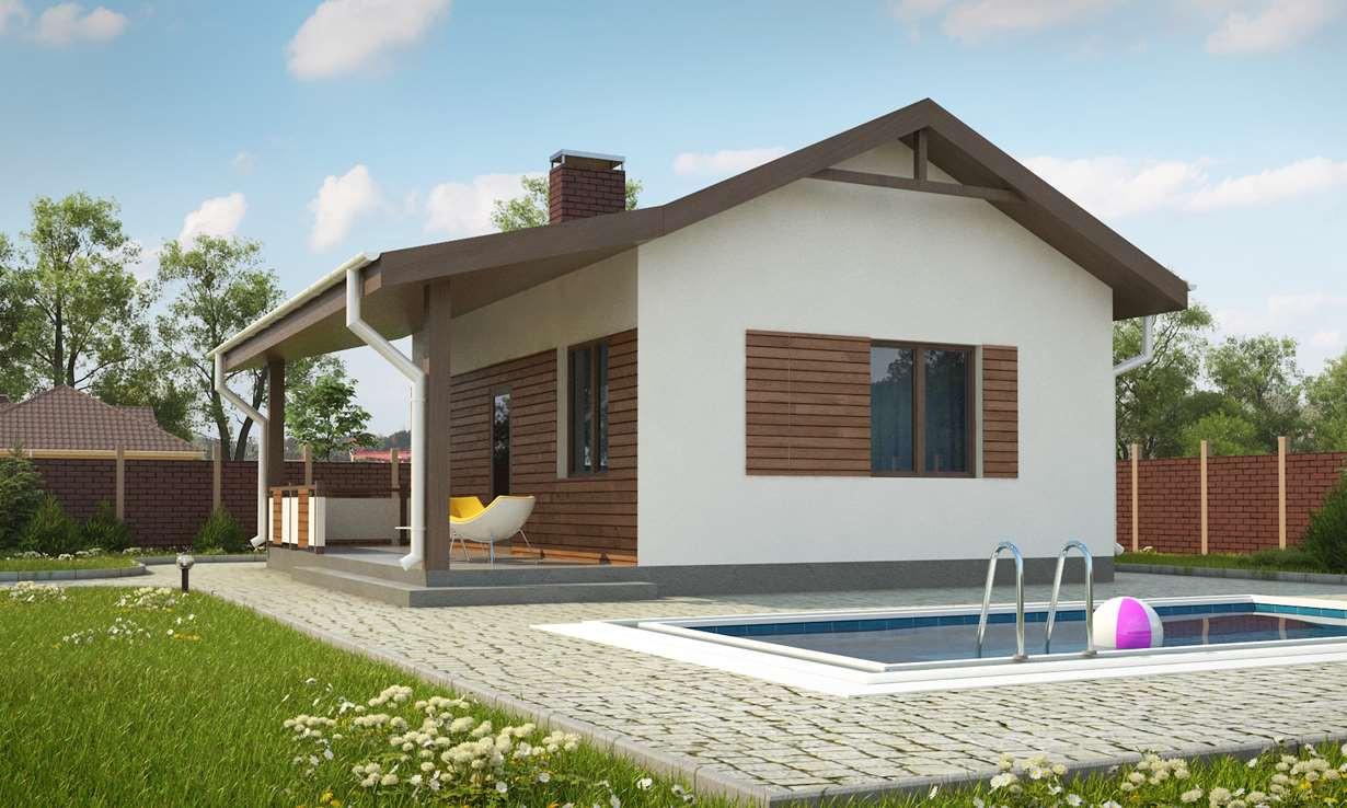 Проект бани 009N (фото фасада 2)