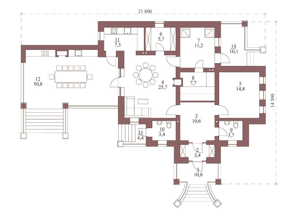 Проект беседки 029N (план)