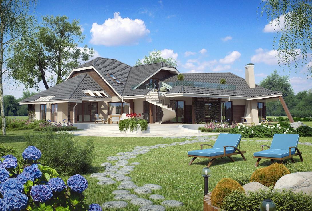 Проект дома 001N (фото фасада 1)