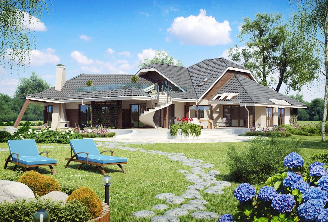 Проект дома 001N (фото фасада 2)