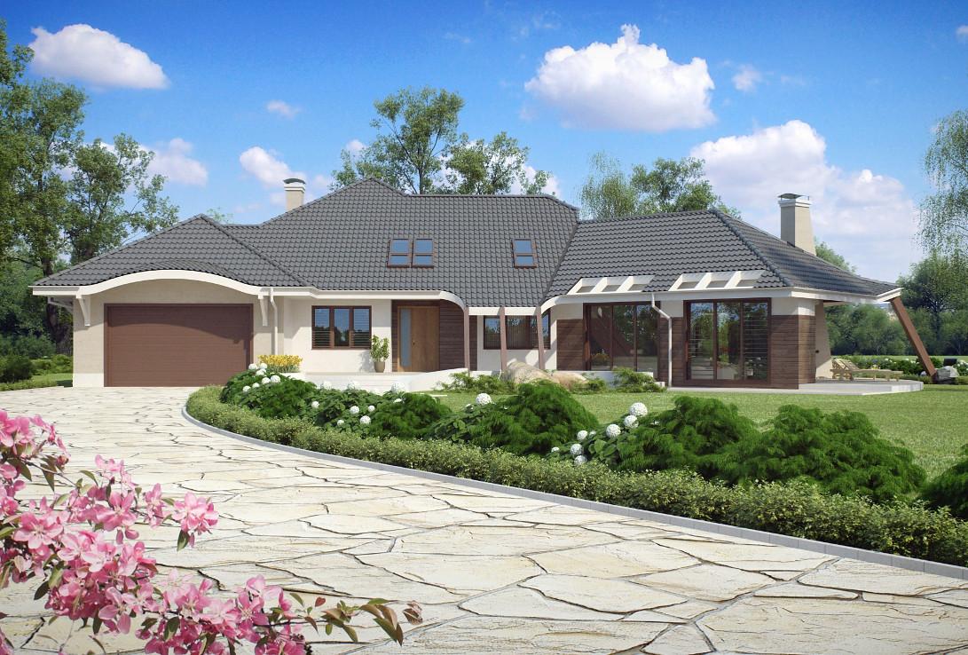 Проект дома 001N (фото фасада 3)