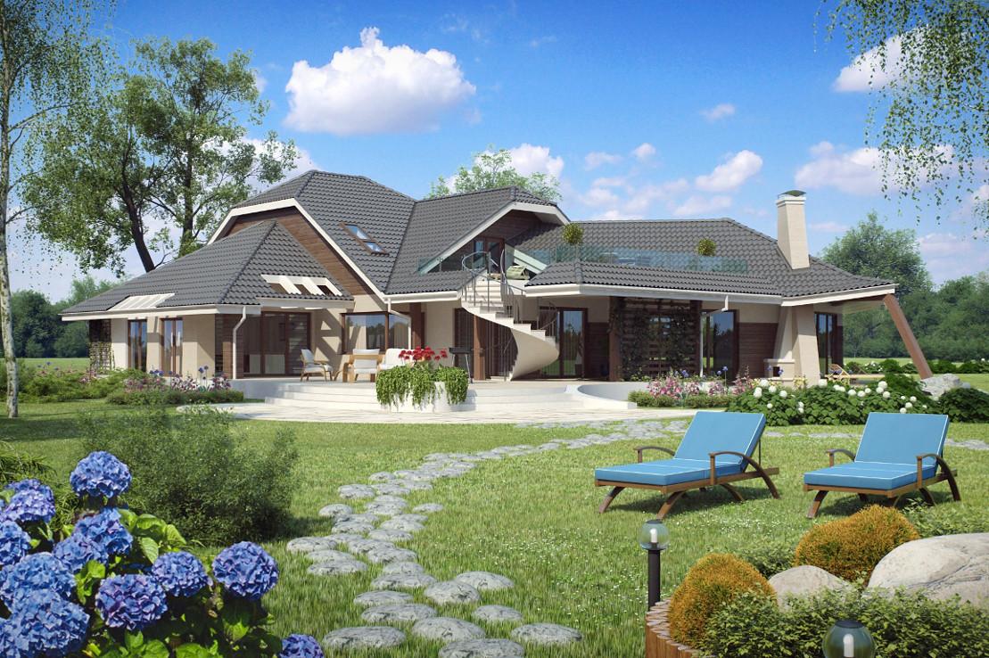 Проект дома 001N (фото фасада 4)