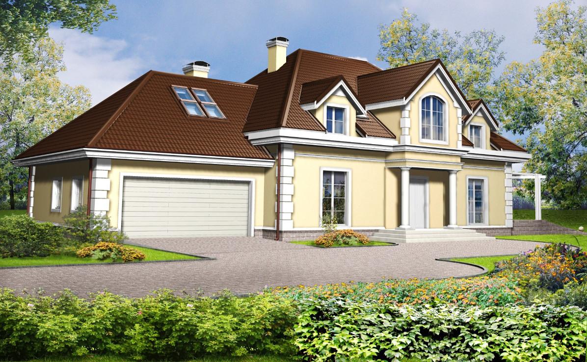 Проект дома 002N (фото фасада 1)