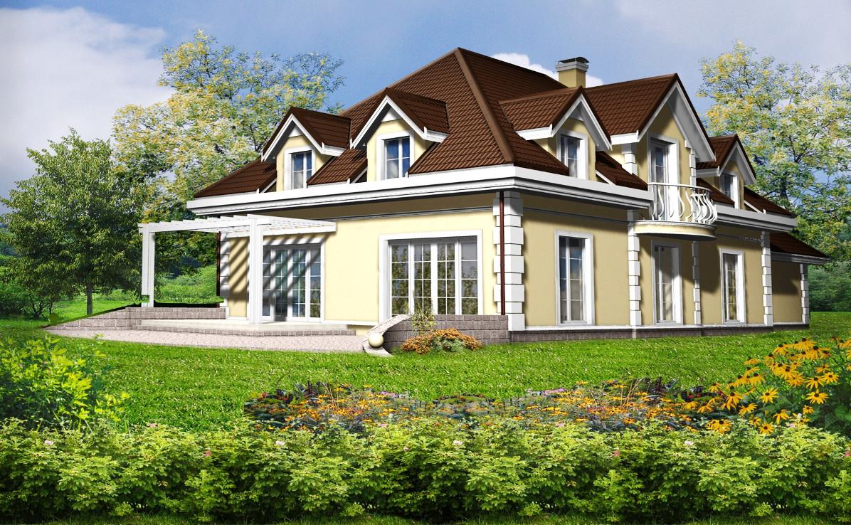 Проект дома 002N (фото фасада 2)