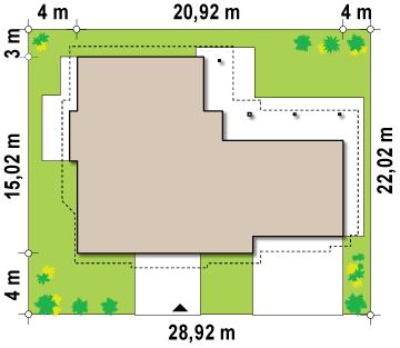 Проект дома 010N (план цоколя)