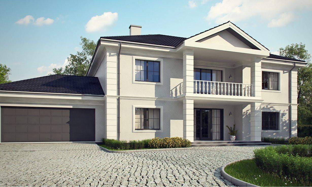 Проект дома 011N (фото фасада 1)
