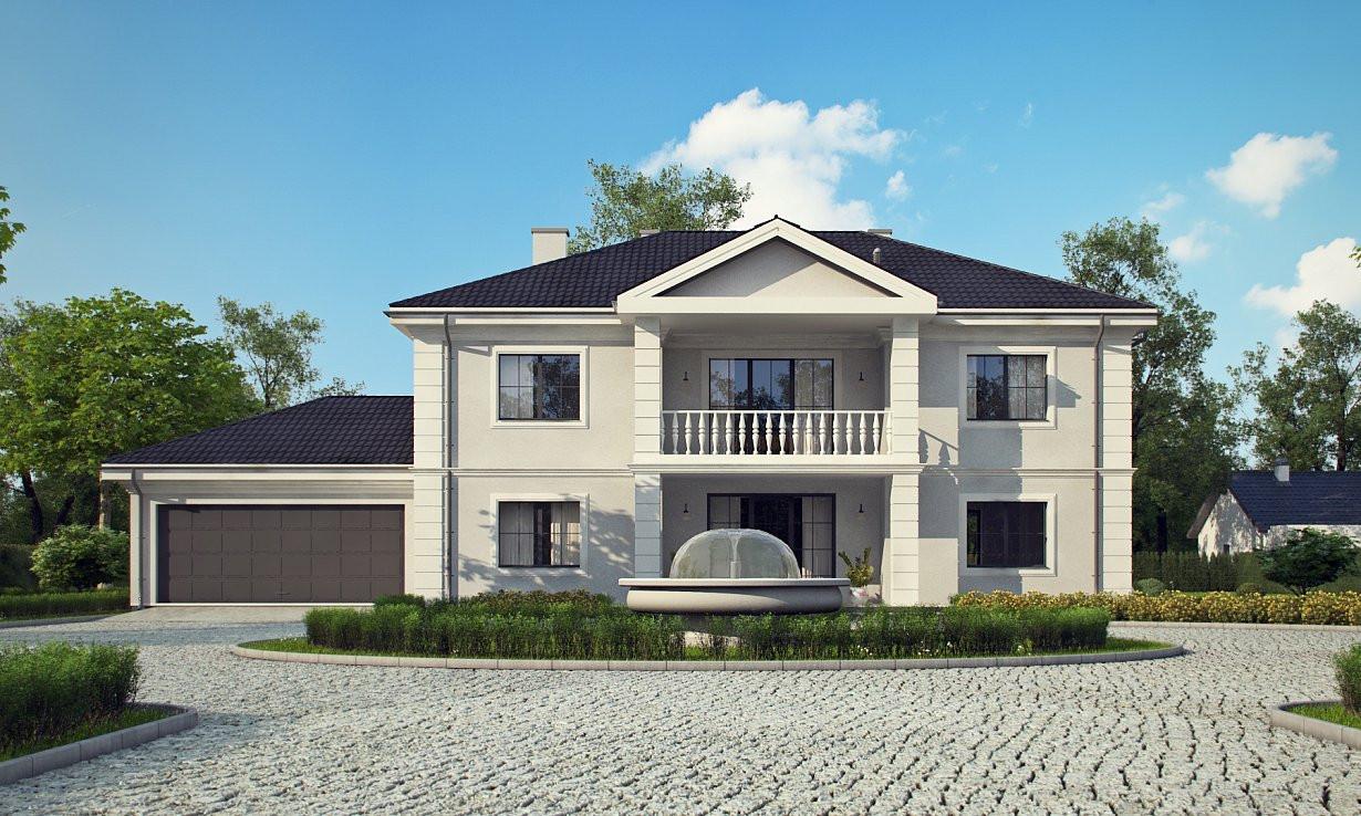 Проект дома 011N (фото фасада 2)