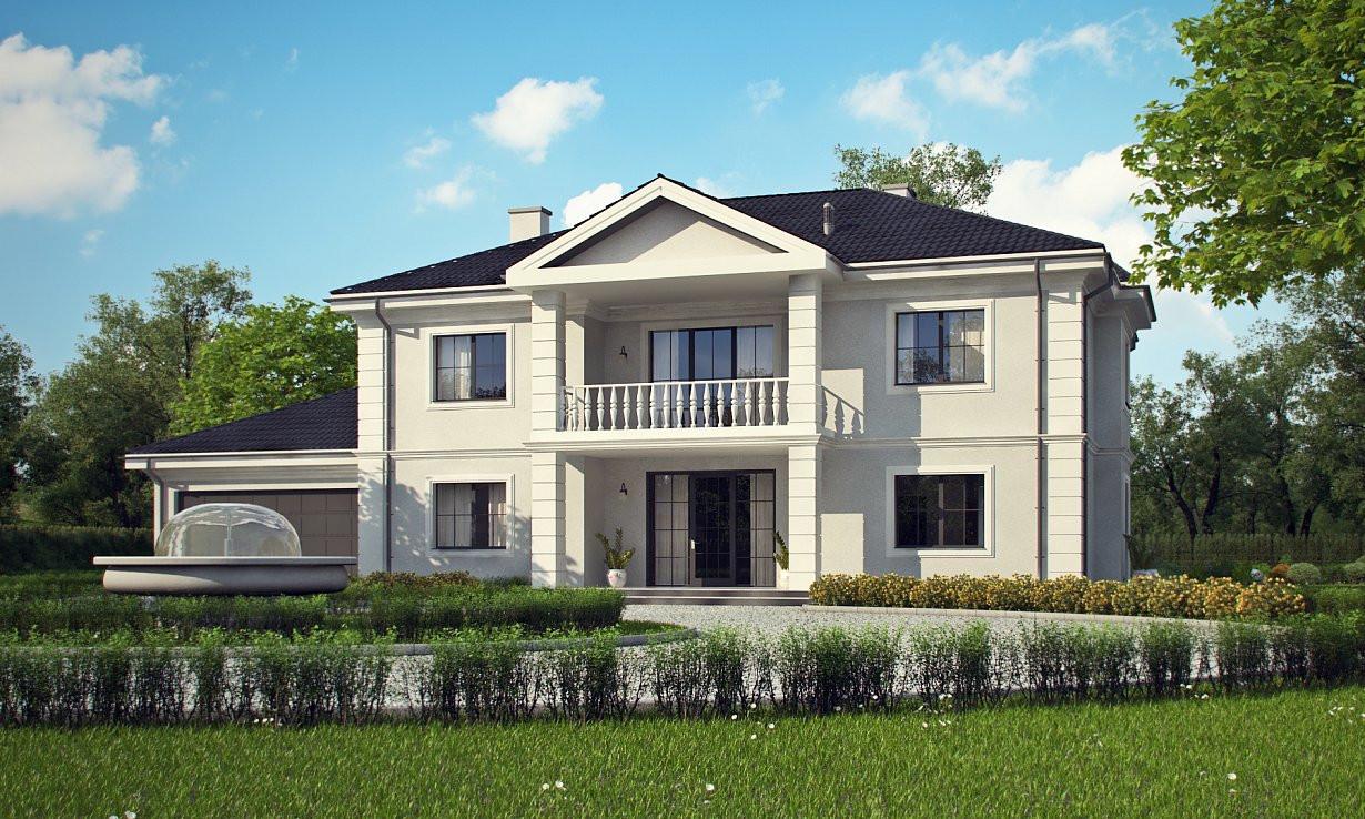 Проект дома 011N (фото фасада 3)