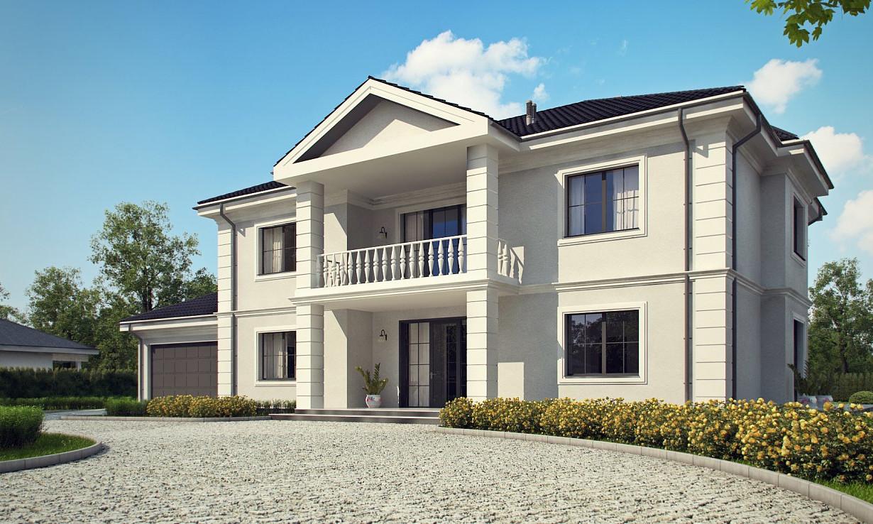 Проект дома 011N (фото фасада 4)