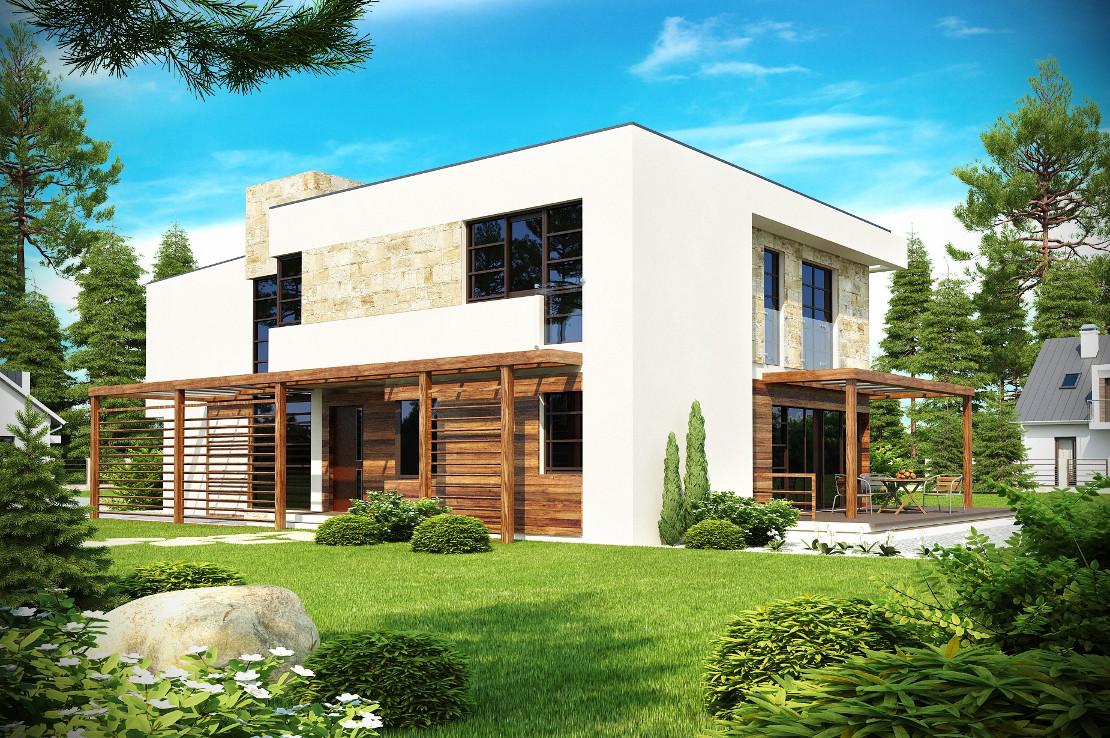 Проект дома 012N (фото фасада 2)