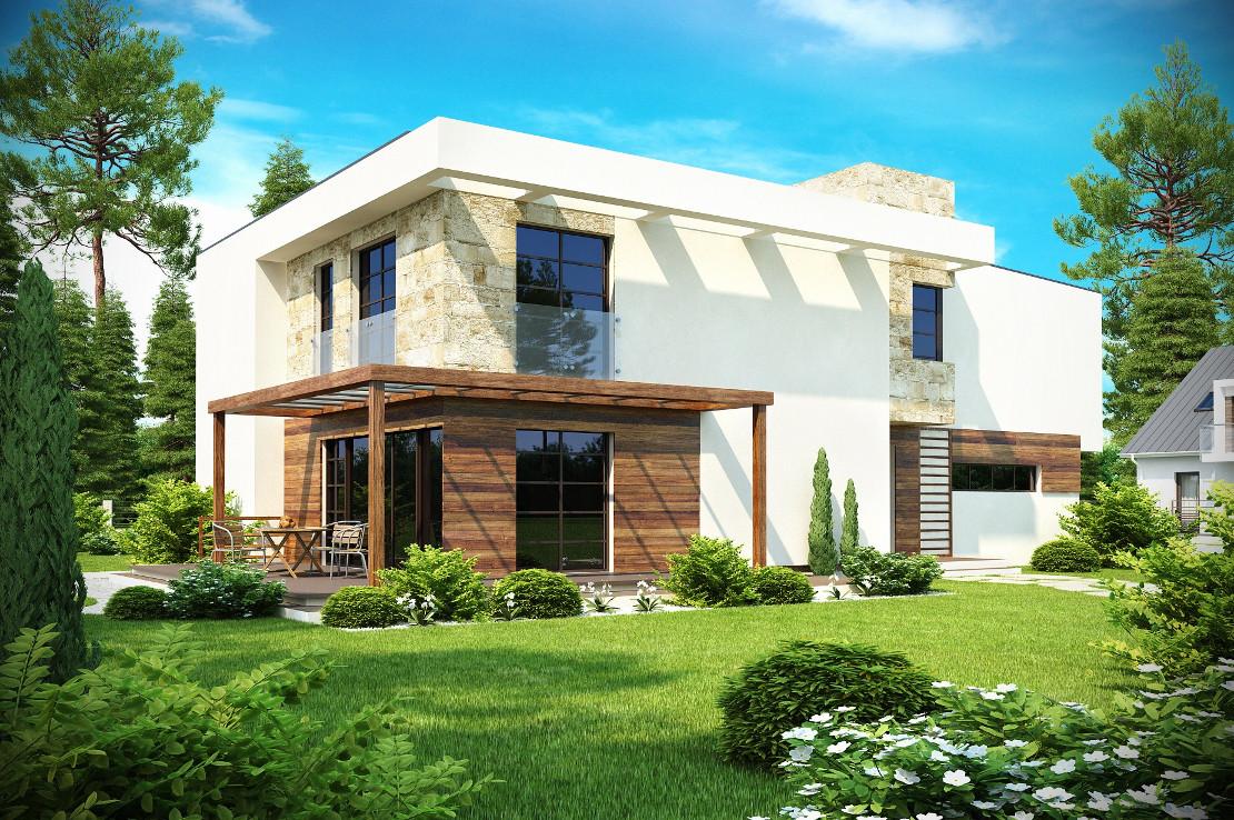 Проект дома 012N (фото фасада 3)