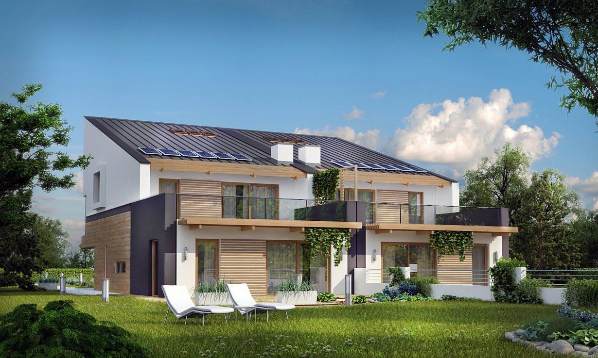 Проект дома 013N (фото фасада 1)