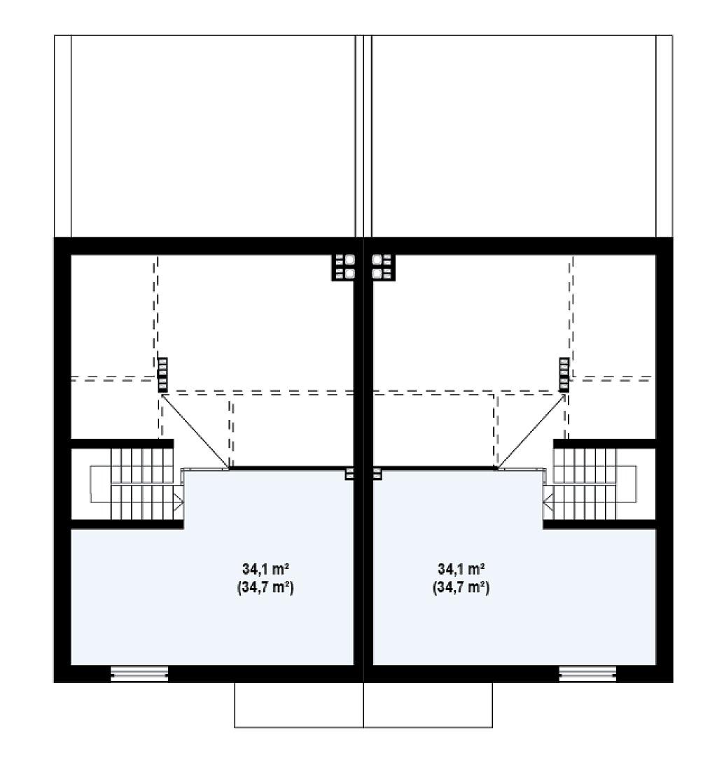Проект дома 013N (план цоколя)