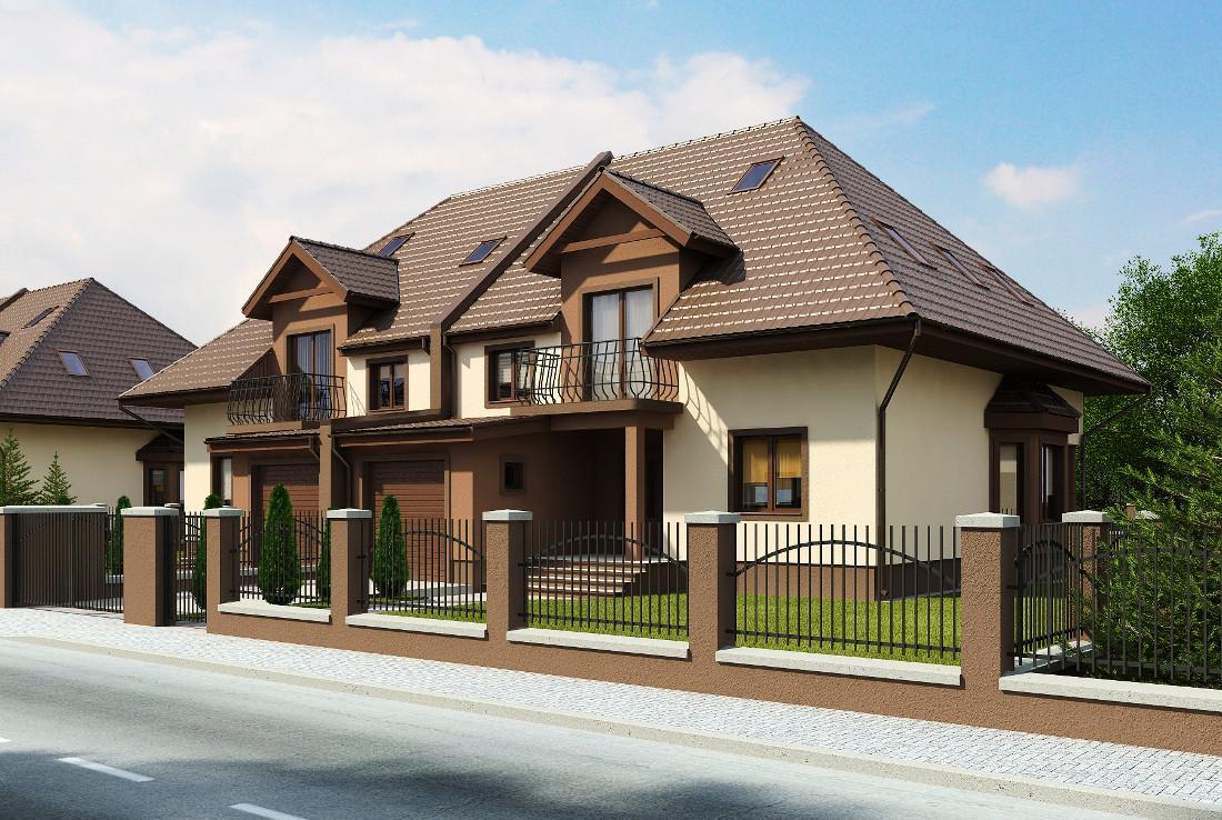 Проект дома 014N (фото фасада 1)