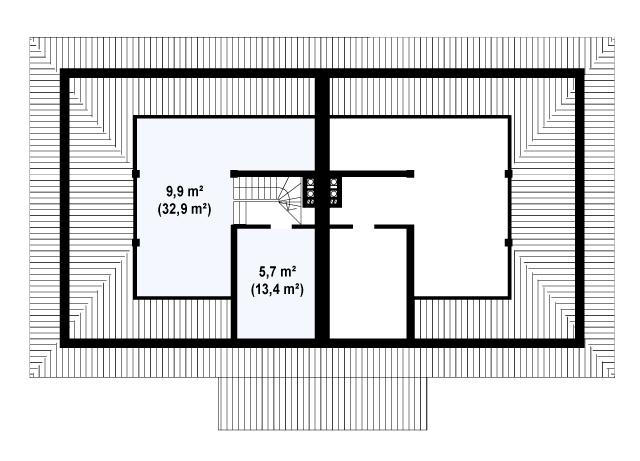 Проект дома 014N (план цоколя)