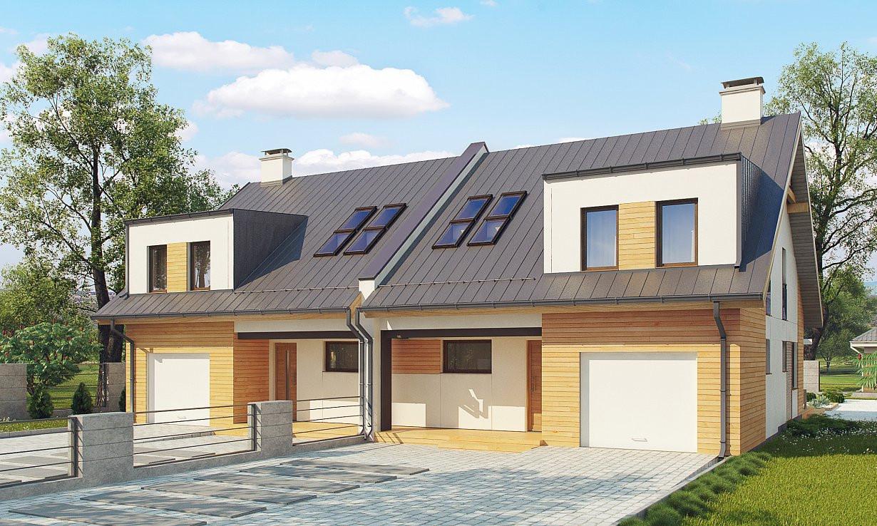 Проект дома 015N (фото фасада 1)