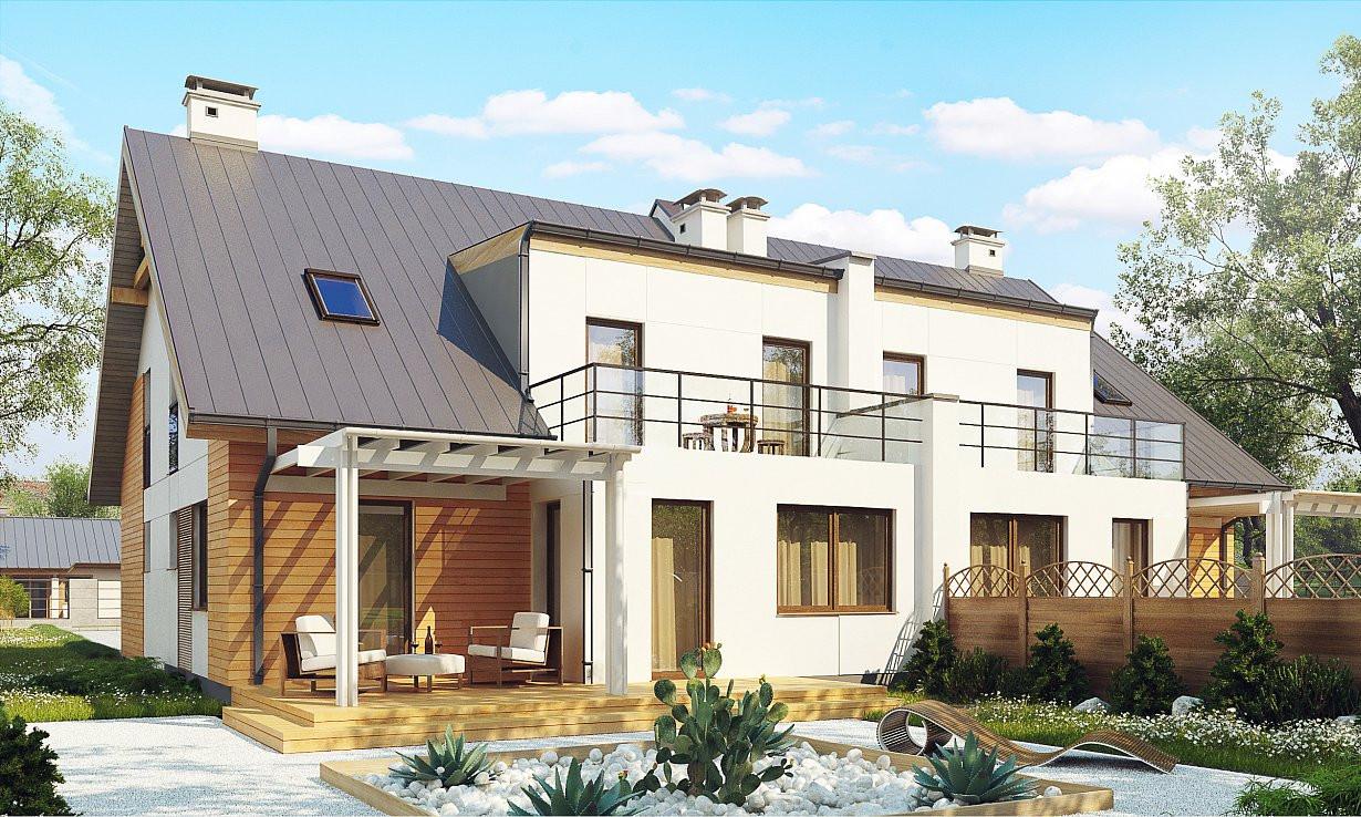 Проект дома 015N (фото фасада 2)