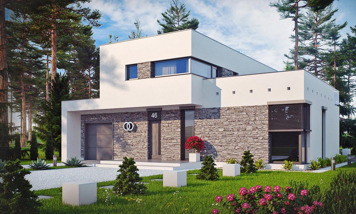 Проект дома 017N (фото фасада 1)
