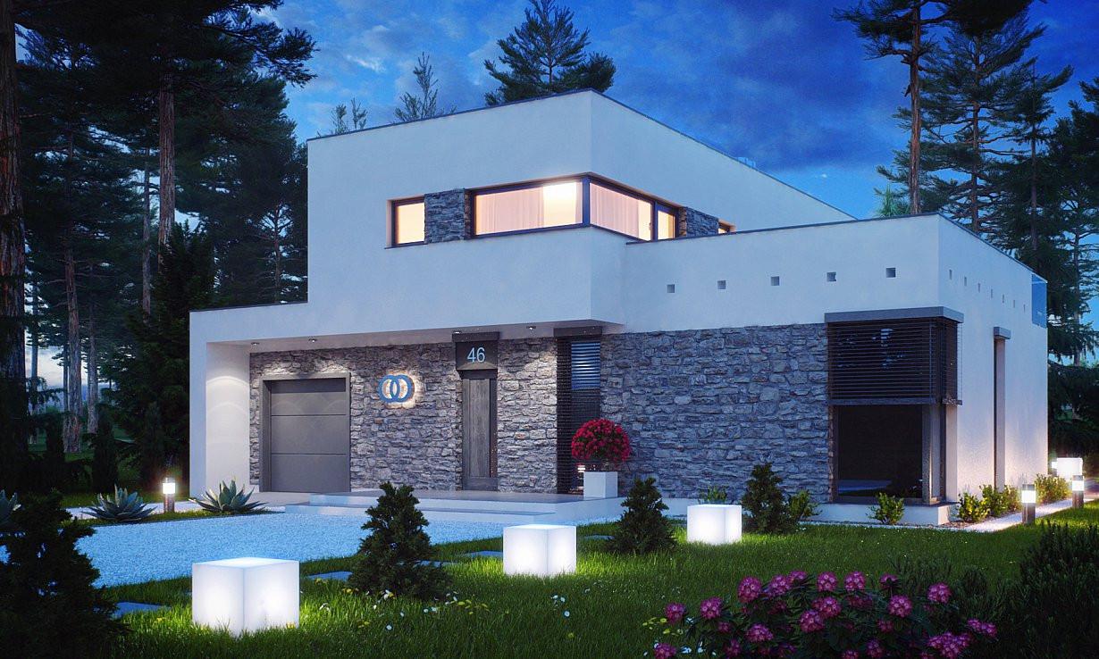 Проект дома 017N (фото фасада 2)