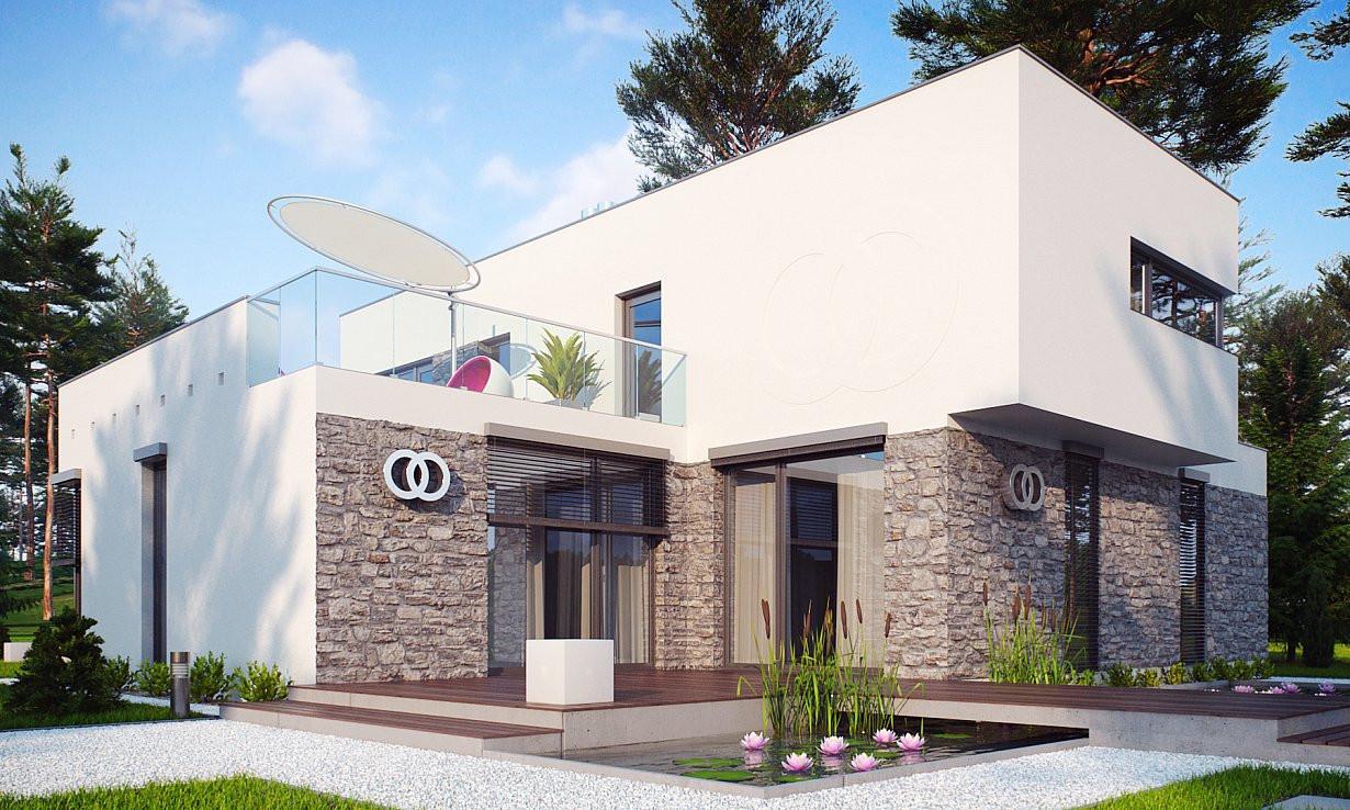 Проект дома 017N (фото фасада 4)