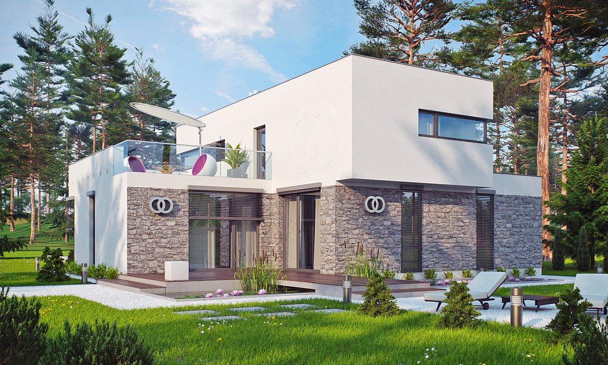 Проект дома 017N (фото фасада 5)