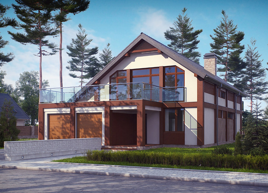 Проект дома 018N (фото фасада 1)
