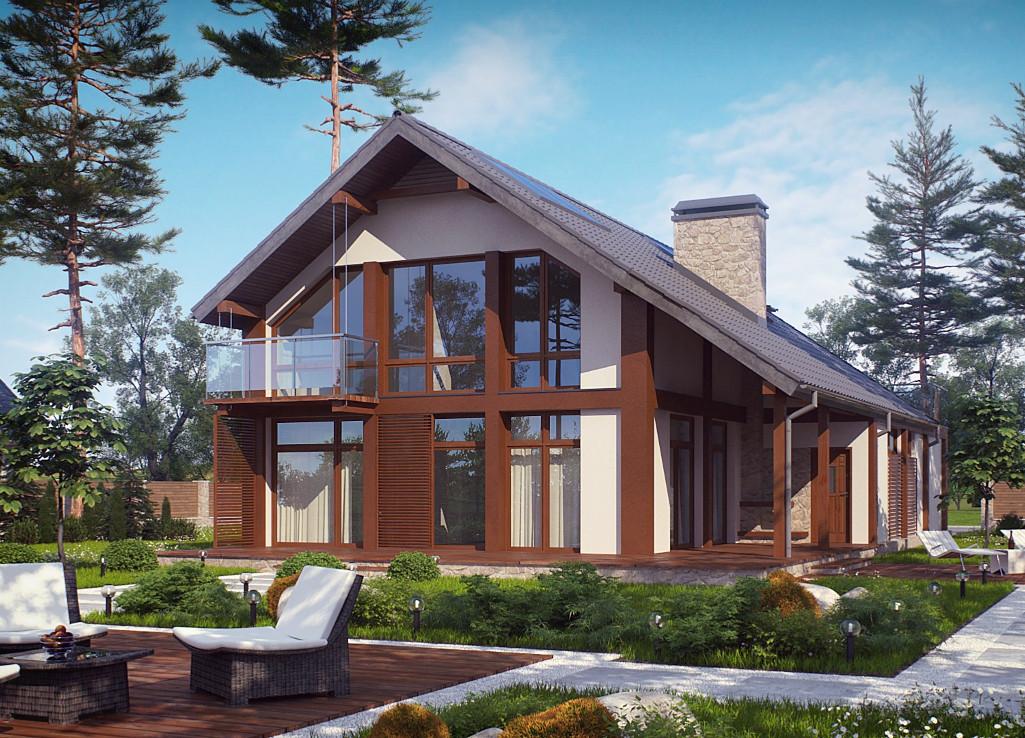 Проект дома 018N (фото фасада 2)