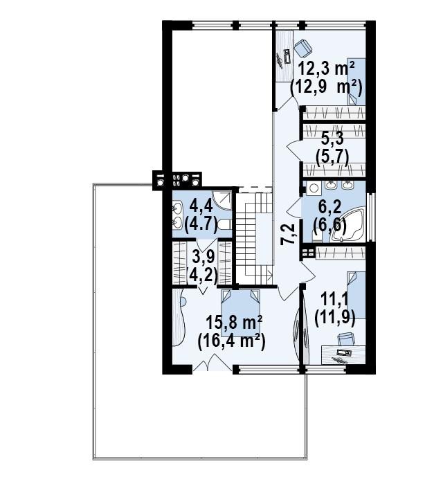 Проект дома 018N (план первого этажа)