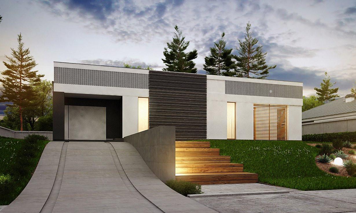 Проект дома 019N (фото фасада 1)