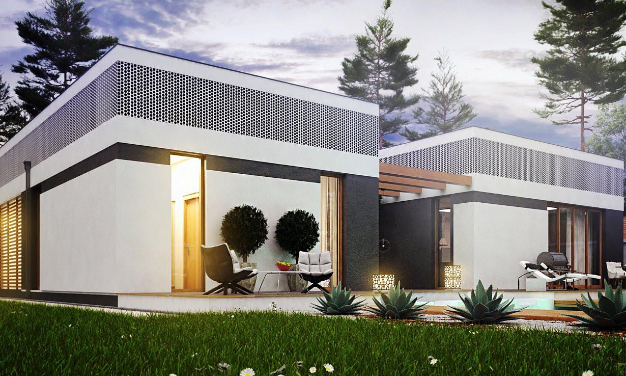 Проект дома 019N (фото фасада 2)