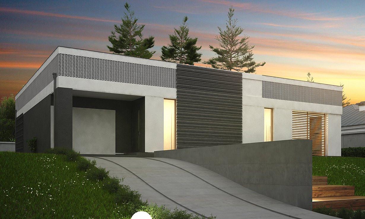 Проект дома 019N (фото фасада 3)