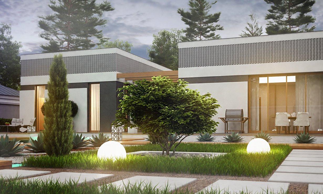 Проект дома 019N (фото фасада 4)