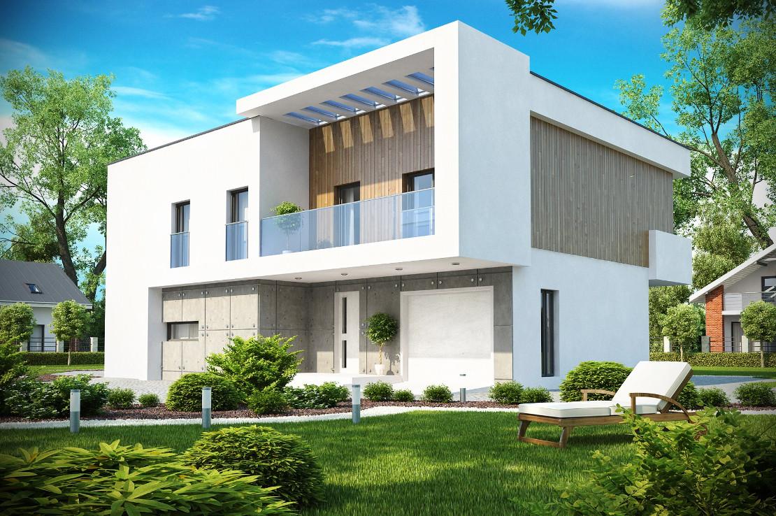 Проект дома 021N (фото фасада 1)