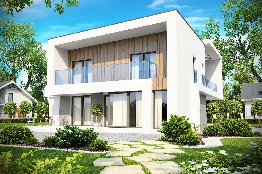 Проект дома 021N (фото фасада 2)