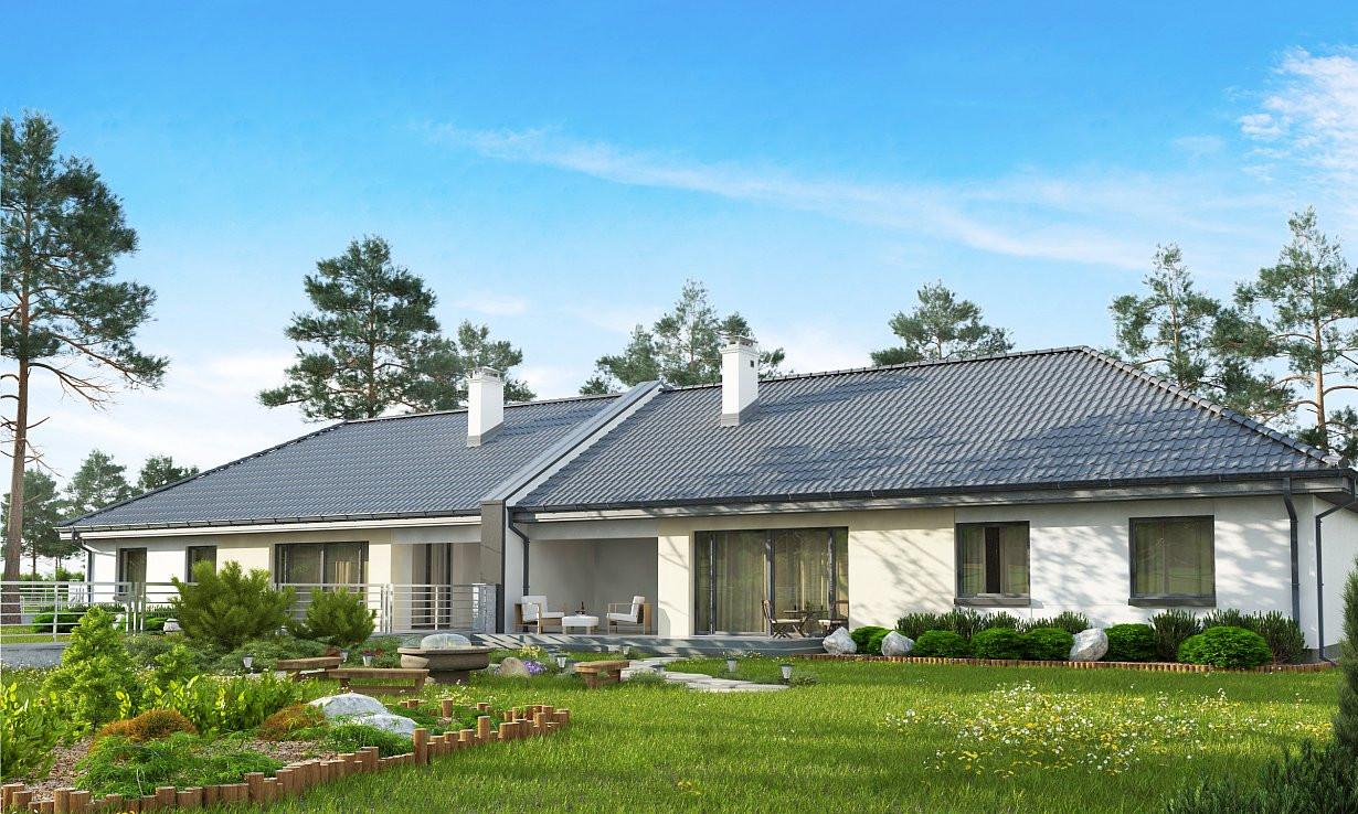 Проект дома 022N (фото фасада 1)