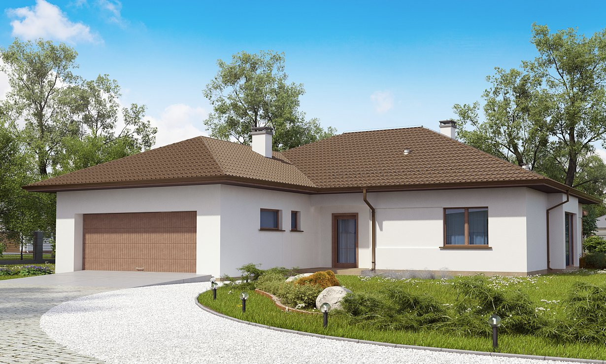 Проект дома 023N (фото фасада 1)