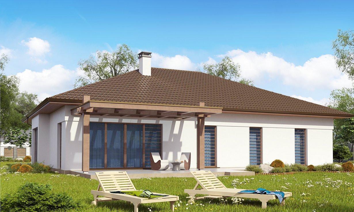 Проект дома 023N (фото фасада 2)