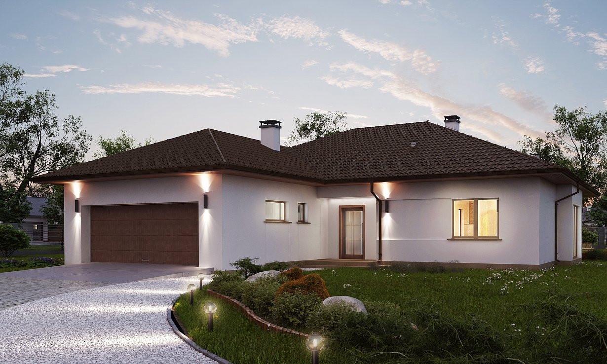 Проект дома 023N (фото фасада 3)