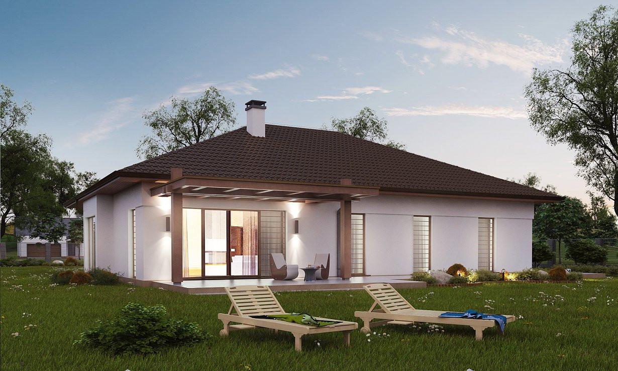 Проект дома 023N (фото фасада 4)