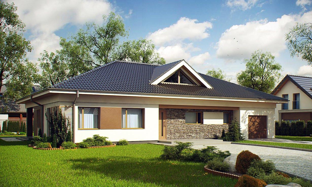 Проект дома 024N (фото фасада 1)