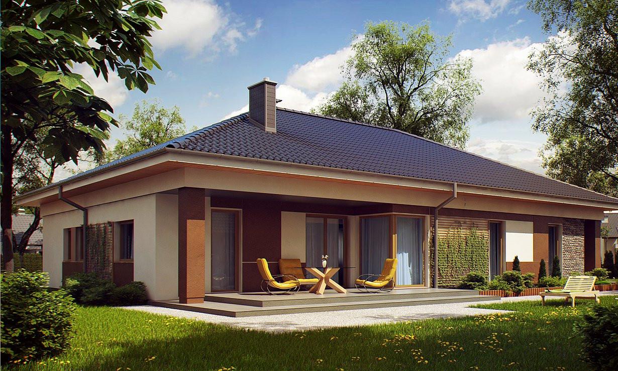Проект дома 024N (фото фасада 2)