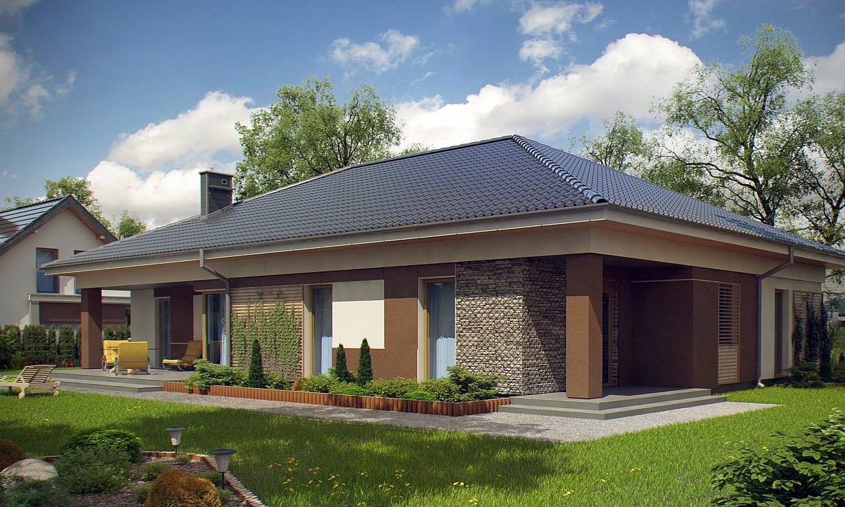 Проект дома 024N (фото фасада 3)