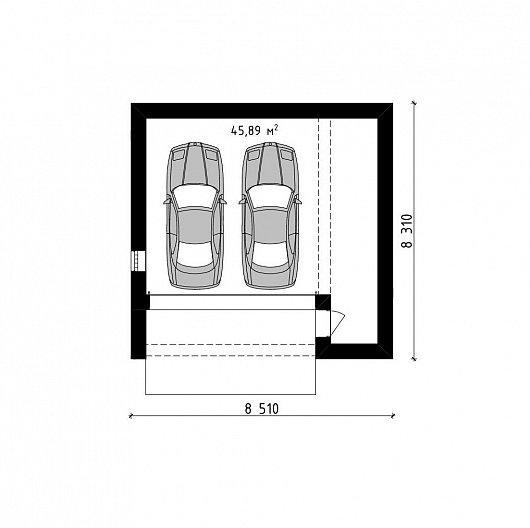 Проект гаража 025N (план)