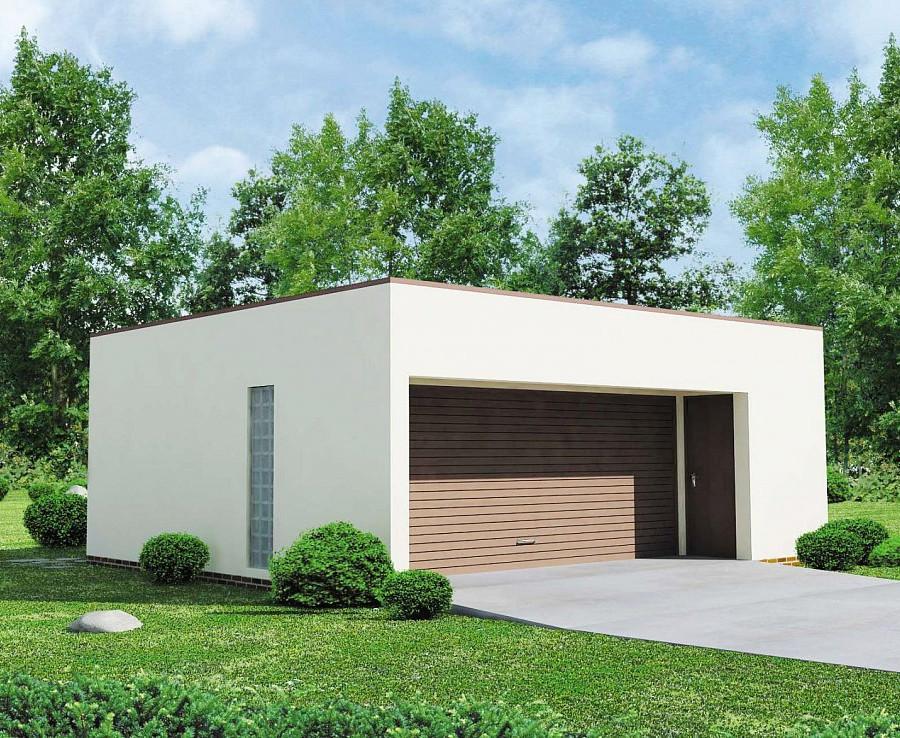 Проект гаража 026N (фото фасада)