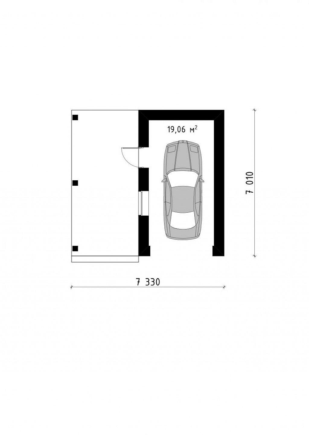 Проект гаража 026N (план)