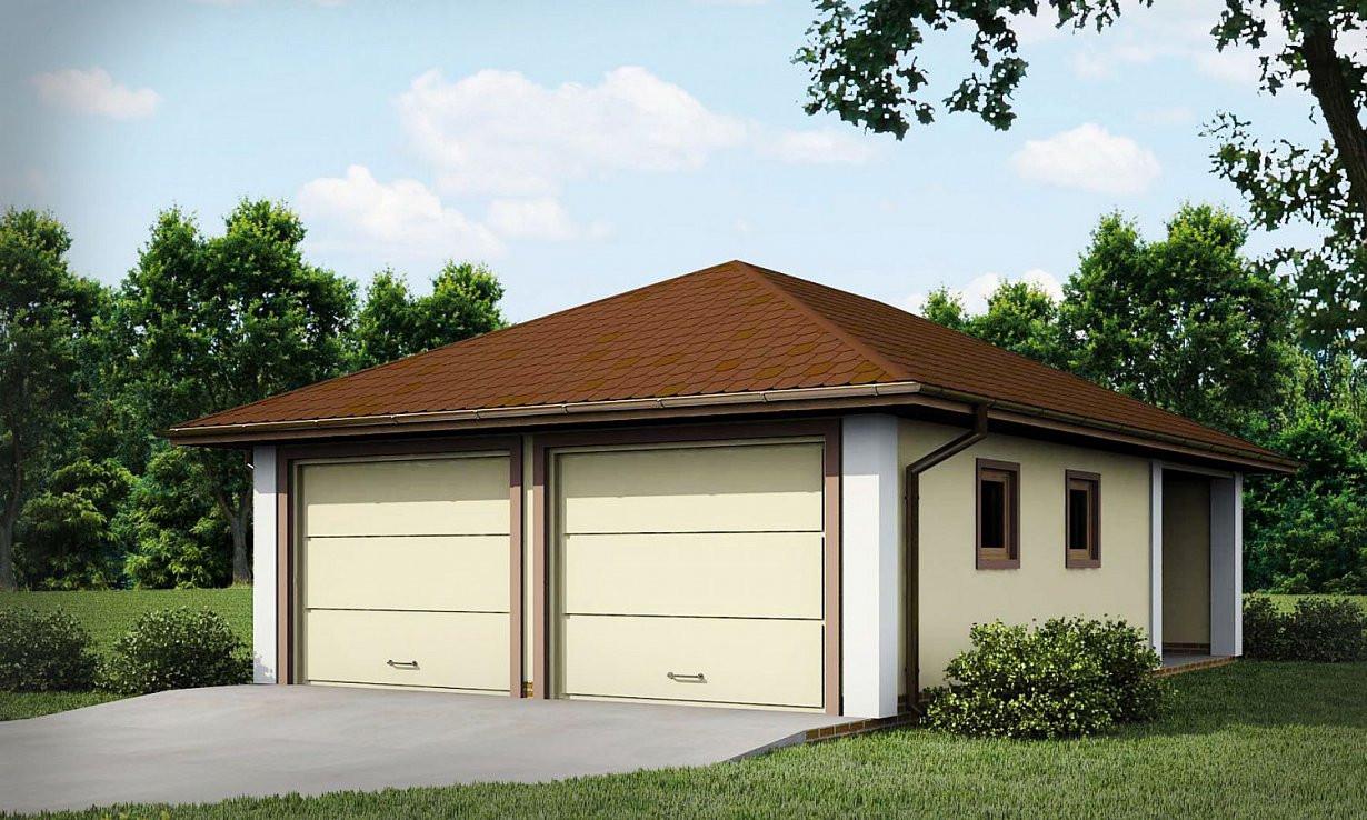 Проект гаража 027N (фото фасада)