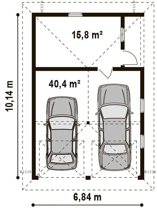 Проект гаража 027N (план)
