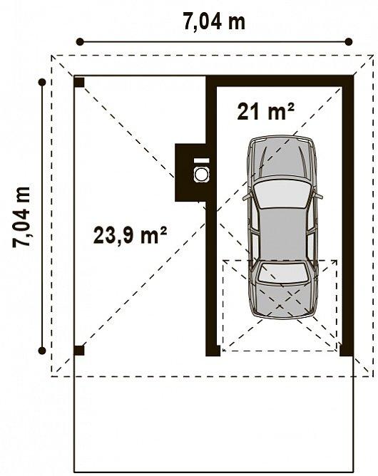 Проект гаража 028N (план)