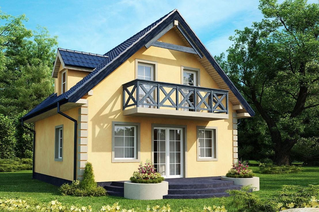 Проект дома 031N (фото фасада 1)